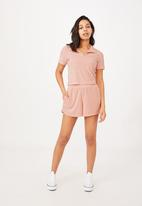 Cotton On - Terry towelling short - sunfaded pink