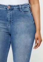 JUNAROSE - One novina sl mb jeans - blue