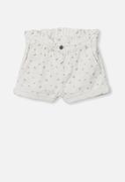 Cotton On - Peta paperbag short - vanilla ditsy floral