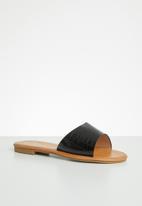 Miss Black - Lowri slide - black