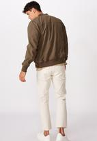 Cotton On - Resort bomber jacket - textured khaki