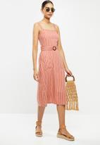 Brave Soul - Dahliah dress - rust & white
