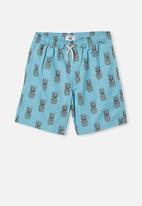 Free by Cotton On - Boys volly short - blue