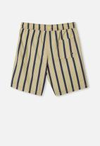 Free by Cotton On - Boys volly short - semolina vertical stripe