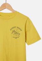 Free by Cotton On - Free boys skater short sleeve tee - sunshine yellow