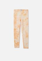 Free by Cotton On - Alex legging - apricot sun tie dye