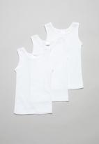 POP CANDY - 3 Pack sleeveless vests - white