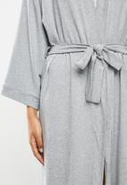Superbalist - Short knit robe - grey