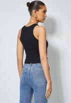Superbalist - Single lycra rib vest - black