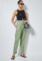 Superbalist - Linen blend paperbag pants - sage