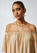 Superbalist - Off the shoulder midi with tier - neutral