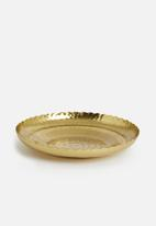 Sixth Floor - Hammered tray - gold