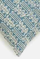 Sixth Floor - Kian cushion cover - blue heaven