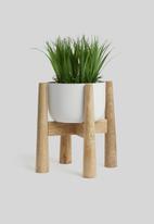 Sixth Floor - Wooden planter - white