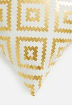 Sixth Floor - Azteco cushion cover - gold