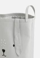 Sixth Floor - Bunny canvas storage basket - grey