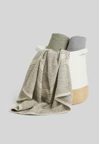 Sixth Floor - Thea cotton storage basket - white & natural
