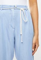 MANGO - Trousers bowie - blue