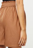 MANGO - Shorts diamante - brown