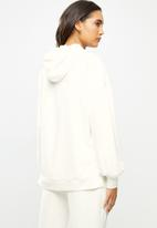 Me&B - Fleece hooded sweat with step hem - cream