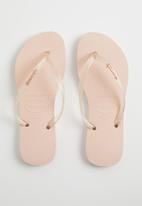 Havaianas - Slim logo metallic - pink