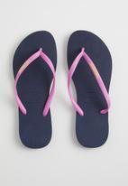 Havaianas - Slim logo pop-up - navy & pink