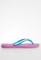 Havaianas - Slim logo pop-up - pink & blue
