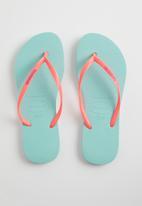 Havaianas - Slim logo pop-up - blue & pink