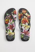 Havaianas - Slim floral - black