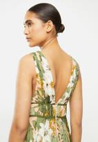 MANGO - Dress leaf - multi