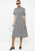 AMANDA LAIRD CHERRY - Kuhlanga dress - black & white
