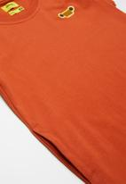 JEEP - A-line short sleeve jersey dress with side entry pockets - orange