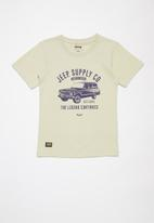 JEEP - Perry boys short sleeve graphic print tee - stone