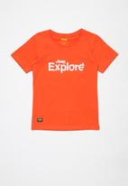 JEEP - Parker boys short sleeve graphic print tee - orange