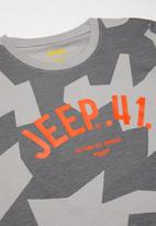 JEEP - Pascal boys short sleeve graphic print tee - grey