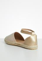 Butterfly Feet - Karla espadrille - rose gold