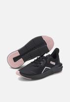 PUMA - Platinum shimmer trainers - puma black & peachskin