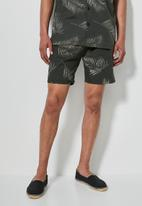 Superbalist - Deco pattern chino short - black