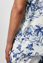 Superbalist - L.A. resort shirt - white & blue