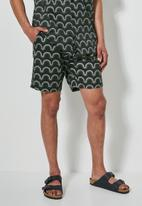 Superbalist - Deco pattern chino short - charcoal