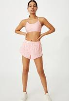 Cotton On - Move jogger short - ditsy camo pink