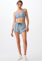Cotton On - Move jogger short - ditsy camo blue