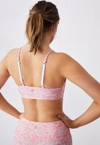 Cotton On - Workout yoga crop - ditsy camo pink