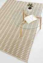 Sixth Floor - Marcie jute rug - natural & white