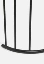 Bathroom Solutions - Powder coated metal towel rack - black