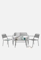 H&S - Steel furniture set - grey