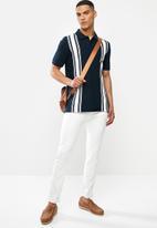 MANGO - Polo shirt rafa - navy & white