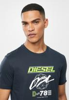 Diesel  - T-diegos-k34 T-shirt - navy