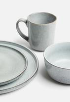 Excellent Housewares - Glazed 16pce dinnerware set - grey