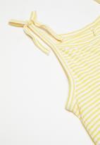 name it - Fania sl culotte jumpsuit - yellow & white